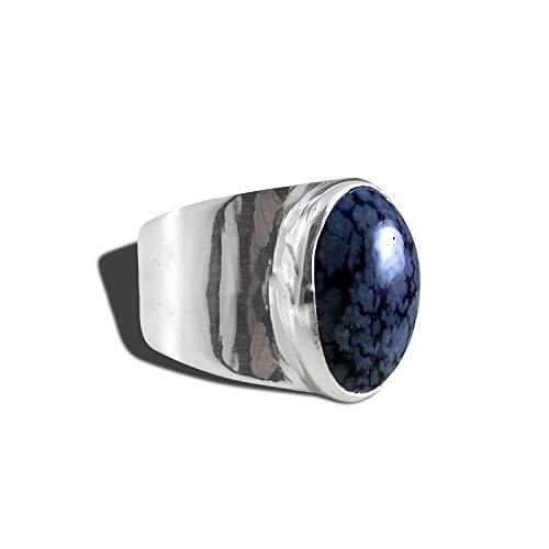 Handmade Silver Ring Gifts For Him 925 Sterling Silver Ring Birthday Gifts Blue Tiger Eye Gemstone Silver Men Ring Valentine Gifts