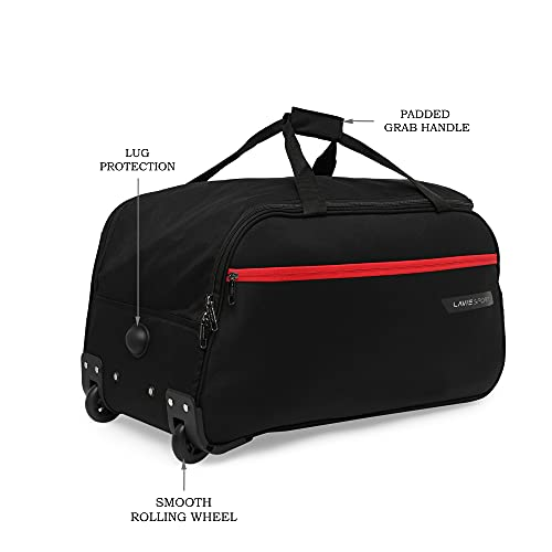Lavie Sport Lino Cabin Size 53 cms Wheel Duffel Bag for Travel | 2 Wheel Luggage Bag | Travel Bag with Trolley