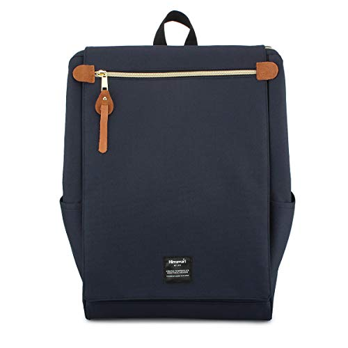 Himawari Travel School Backpack with Laptop Compartment for Women Men 15.6 inch- Navy Blue