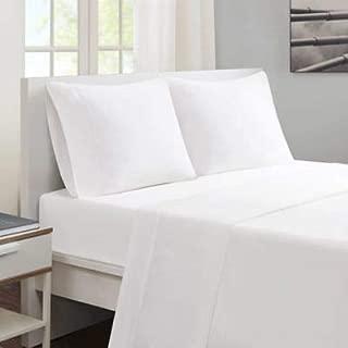 Ultra Soft Sheet Set (4 Piece) 100% Egyption Cotton 12 inches Deep Pocket. White Split Queen