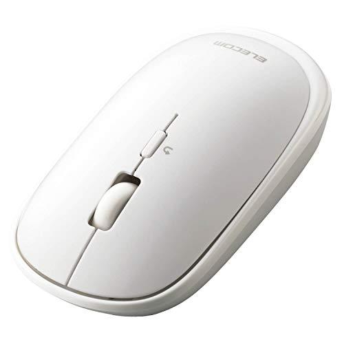 エレコム ワイヤレスマウス Bluetooth Slint M-TM10BBWH/EC 薄型 静音 4ボタン プレゼンモード機能付 Windows Mac Android iOS iPadOS 対応 ホワイト