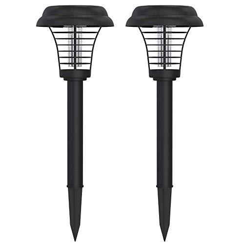 PESGONE 2X Lámpara Repelente de Mosquitos, lámpara antimosquitos, energía Solar, portátil, mosquitera eléctrica Mosquito Killer Lámparas Solares Insecto