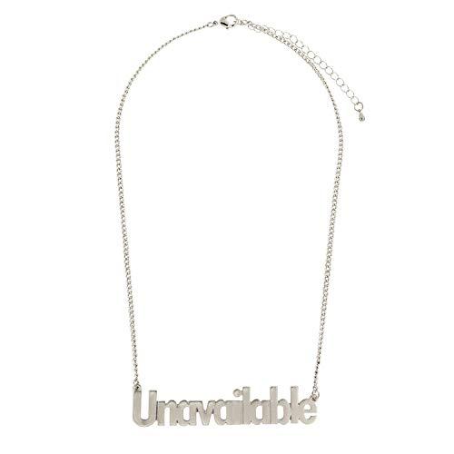 Sweet Deluxe Kette Unavailable, mattsilber I Elegante Halskette für Damen, Frauen & Mädchen I Halsband Modeschmuck I Designer Necklace
