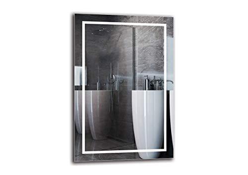 Espejo LED Premium - Dimensiones del Espejo 40x60 cm - Espejo de baño con iluminación LED - Espejo de Pared - Espejo de luz - Espejo con iluminación - ARTTOR M1ZP-48-40x60 - Blanco frío 6500K
