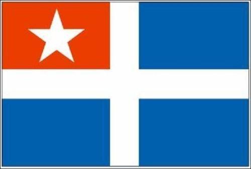 U24 Fahne Flagge Kreta Bootsflagge Premiumqualität 20 x 30 cm