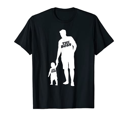 el jefe el verdadero jefe - Padre hijo pareja mira el día Camiseta
