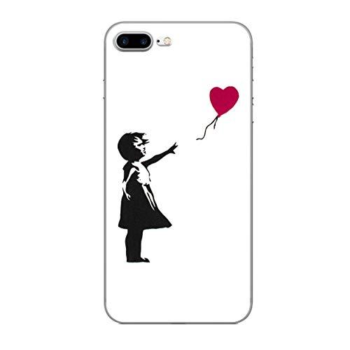 iCHOOSE Banksy gelbehuizing voor smartphone Apple iPhone 7 Plus Hart