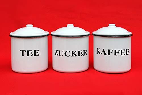 Ambiente Haus 51206 Tee-/Kaffee-/Zuckerdose 12 cm emailliert