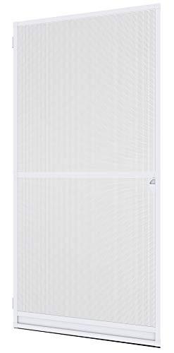 Windhager 04330 Insektenschutz Spannrahmen Expert Fliegengitter Alurahmen für Türen, individuell kürzbar, 100 x 210 cm, weiß, 03902