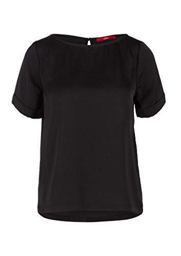 s.Oliver Damen 120.10.004.10.100.2036784 Bluse, Black, 42