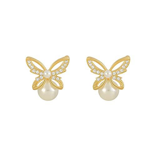 Pendientes de la novedad Pendientes de la perla de la mariposa Pendientes de metal