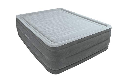 Intex Dura-Beam Comfort Plush 22' High Air Bed Queen Size with built-in electric pump #64418