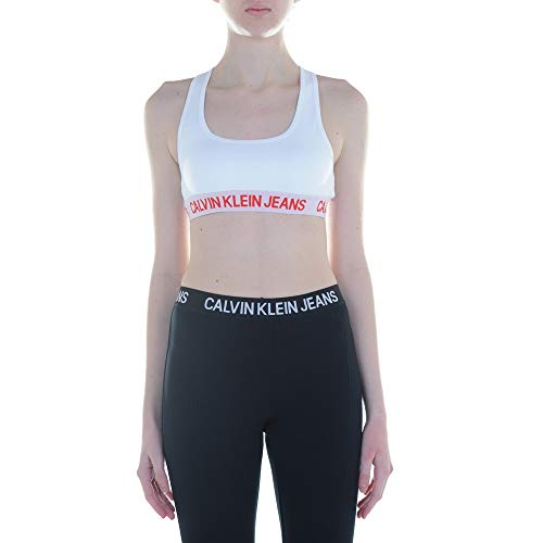 Calvin Klein Jeans Sports Bra Top Dames J20J211229 112 Bright White (S)