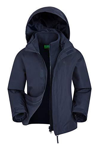 Mountain Warehouse Fell 3-in-1-Kinderjacke - Wasserfeste Triclimate-Jacke, abnehmbare Innenjacke, verstaubar, Seitentaschen - Zum Spazieren & Wandern, Winter Marineblau 5-6 Jahre