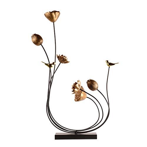 SISIZHANG Geschenk Ornament Wohnaccessoires Chinesische Kreative Ornamente Wohnzimmer Metall Geschenke Büro Geschenkartikel Geschenk (Color : METALLIC, Size : 59 * 16 * 81CM)