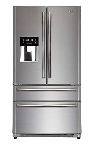 Haier HB22FWRSSAA Kühl- Gefrierkombi/French Door/ A+/178cm Höhe/415 kWh/Jahr/387 L Kühlteil/135 L Gefrierteil/Inverter Kompressor /Wasserspender/ Eiswürfelbereiter
