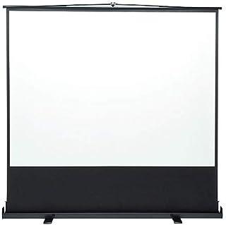 イーサプライ プロジェクタースクリーン 100インチ 4:3 自立式 床置き パンタグラフ式 EEX-PSY1-100V