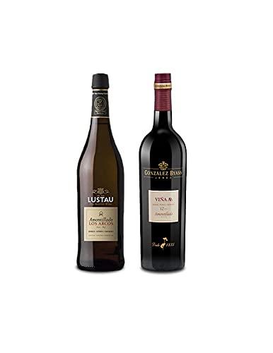 Mezclanza Exclusiva - Vino Amontillado Los Arcos Lustau de 75 cl y Vino amontillado Viña AB de 75 cl