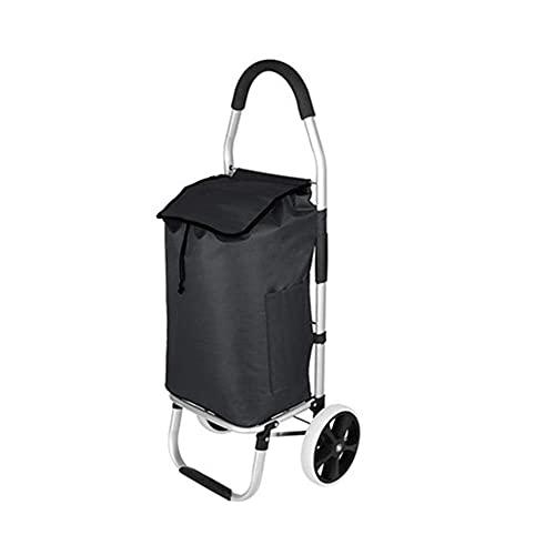 showyow Carro de compras portátil con ruedas Carrito plegable Oxford tela impermeable