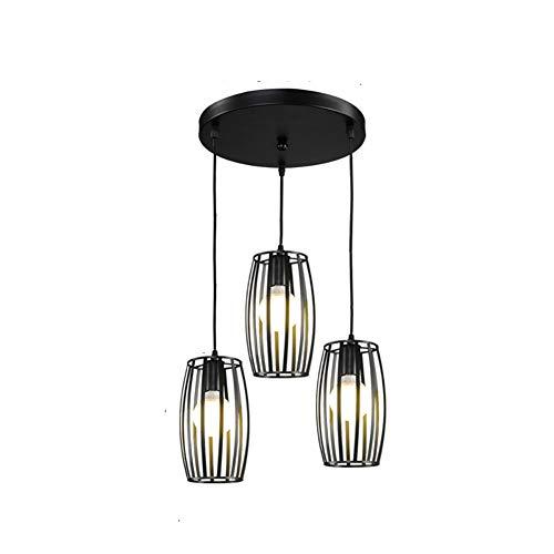 3 Luces Minimalista Lámparas Lámpara Colgante Lámpara De Techo Creativo Restaurante Iluminación Colgante 1000/30 para Bar Salón Comedor Lámparas Luz De Araña-Negro. 3 Luces