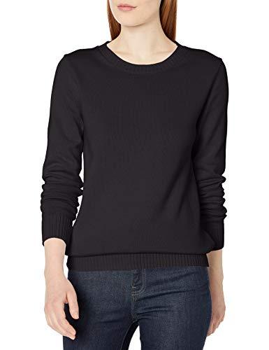 Amazon Essentials 100% Cotton Crewneck Sweater Suéter, Negro, XXL