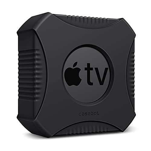 Fintie Funda protectora para Apple TV 4K (2ª y 1ª generación) / Apple TV HD – Funda ligera antideslizante a prueba de golpes para Apple TV 4K 2021 / Apple TV HD 4ª generación TV Box, color negro