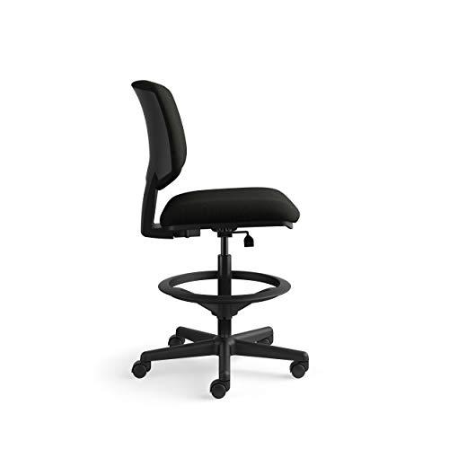 HON Volt Armless Task Chair, Stool, Black