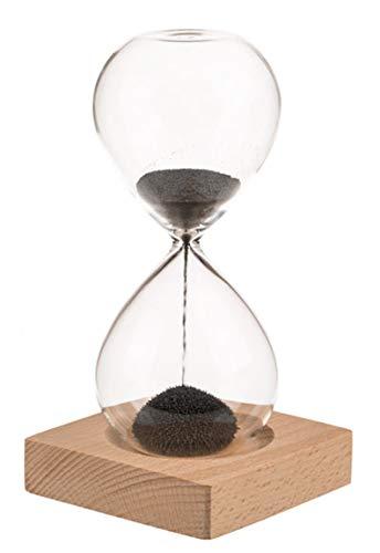 Bada Bing Sanduhr Magnetisch Höhe ca. 16 cm ca. 1 Minute Stundenuhr mit magnetischem Sand Eisen Späne Dekoration Deko 89