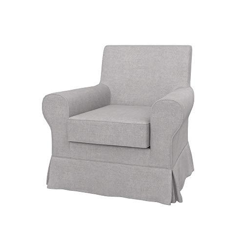 IKEA EKTORP JENNYLUND poltrona, tessuto Softi Light Grey, grigio