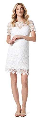 ESPRIT Maternity Damen Umstandskleid Dress Brautkleid Hochzeitskleid (38 (38), White)