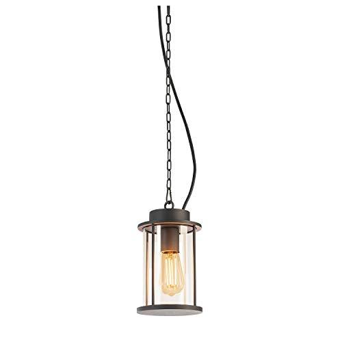 SLV Luminaire à suspension Photonia - Éclairage pour terrasse, jardin, extérieur - Lampe de jardin - Spot de plafond - E27 IP44 - 60 W - Anthracite