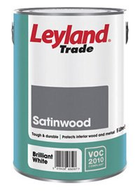 Leyland Trade 300845 Satinwood, Brilliant White, 5 Litre