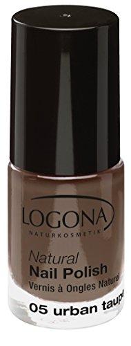 LOGONA Naturkosmetik Natural Nail Polish, Nagellack No. 05 Urban Taupe, Natürliche Inhaltsstoffe, NATRUE/BDIH zertifiziert, 4ml
