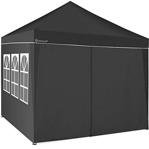 KESSER® 2X Seitenwand Anthrazit für Pavillon 3x3m - Faltpavillon Pop Up | klappbar | platzsparend | verstaubar
