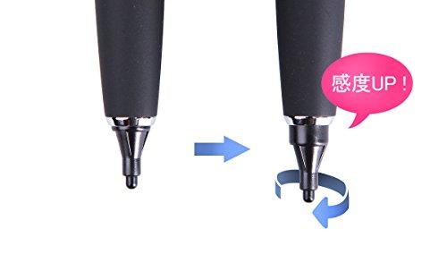 『Acase Active Sense ペン先 2mm スタイラスペン 自己静電発生式 グレー 【国内正規品】』の4枚目の画像
