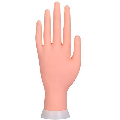 MARIJEE Plantilla flexible extraíble de plástico suave para manicura, entrenamiento de uñas, modelo de práctica, iniciador de mano, suave, para manicura, color carne.