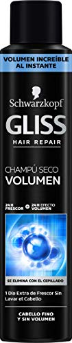 Gliss -  Champú Seco Volumen - 3 uds de 200 ml