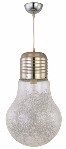 Dupi - Luz colgante de techo bulb, medidas 120 x 29 x 29 cm, color transparente