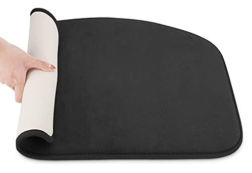 Tappeto Bagno Antiscivolo, Tappetino Assorbente in Velluto Corallo Super Morbido Con Memory Foam, Utilizzabile in Bagno, Cucina e Camera da Letto, Lavabile in Lavatrice, 50x80 cm,Nero