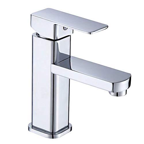 Aufun Badarmatur Kaltwasser Armatur Messing Kaltwasserhahn Gäste WC Wasserhahn Wasserfall Chrom Waschtischarmatur für Bad Mischbatterie (Modell D)