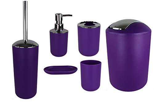 GMMH - Juego de 6 accesorios para el cuarto de baño, dispen