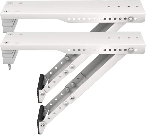 LuckIn 2-Pack Window Air Conditioner Support Bracket for 5,000 to 12,000 BTU AC Units, Support Up to 85 lbs, Heavy Duty...