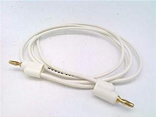POMONA ELECTRONICS 1081-36-9 36 INCH, White Cord, Mini Banana to Banana Plug, PIN TIP Plug Patch Cord, Test Lead