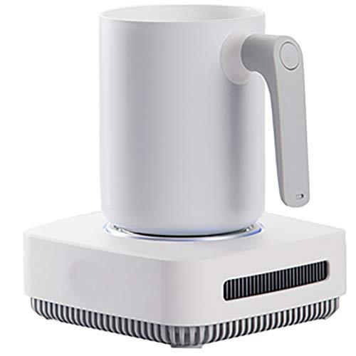 JCJ-Shop Intelligenter Kühlbecher, Schnellwärmer und Kühler, große Kapazität 3 Modi Haushaltskeramik-Kühlbecher (weiß)