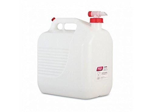 Bidón con grifo tayg 20l Toma de aire para vertido uniforme Apto para uso alimentario Colores; bidón blanco, con grifo y orificio rojos Materiales; hecho de polietileno Medidas. 345x234x377mm