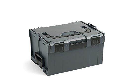 Bosch Sortimo L BOXX 238 | Größe 3 anthrazit | Transportsystem Werkzeug | Werkzeugkoffer leer groß Kunststoff | Ideale Werkzeug Aufbewahrung Box