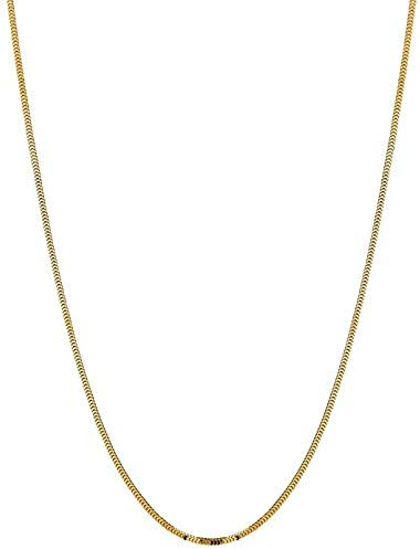 14K Yellow or White Gold 1.1mm Shiny Diamond Cut Milano Chain Necklace for Pendants and Charms with lobster-Claw Clasp (16