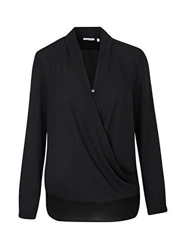 Seidensticker Damen Fashion-Bluse 1/1-Lang, Schwarz (Weiß 39), 44