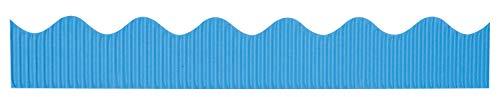 Pacon Bordette Scalloped Decorative Border Roll, 2-1/4 Inch x 50 Feet, Bright Blue, Model: 37174