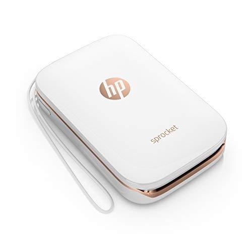 HP Sprocket Stampante Fotografica Istantanea Portatile, Bianco, 5 x 7.6 cm